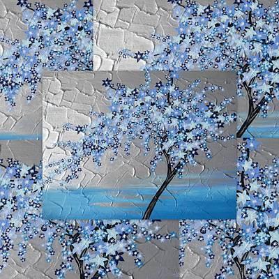 Joy Mixed Media - Blue Blossom Tree by Cathy Jacobs