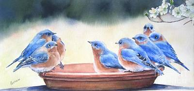 Dogwood Painting - Blue Board Meeting by Patricia Pushaw
