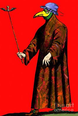 Victorian Death Digital Art - Blue Bonnet Plague Doctor 20140306 by Wingsdomain Art and Photography