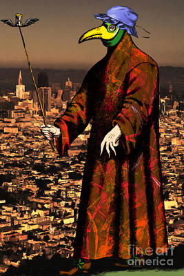 Blue Bonnet Plague Doctor Of San Francisco 20140306 Print by Wingsdomain Art and Photography