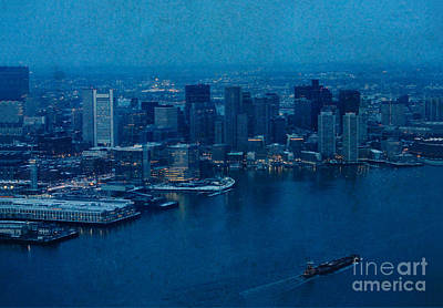 Blue Boston Print by Claudia M Photography
