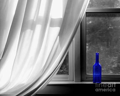Wines Photograph - Blue Bottle by Diane Diederich