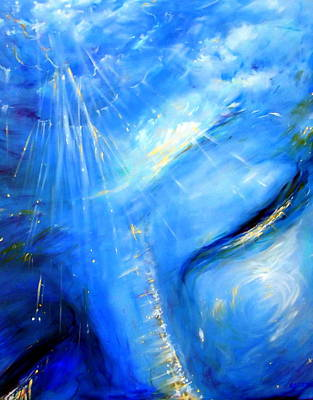 Ajna Painting - Blue Buddha Sky by Heather Calderon