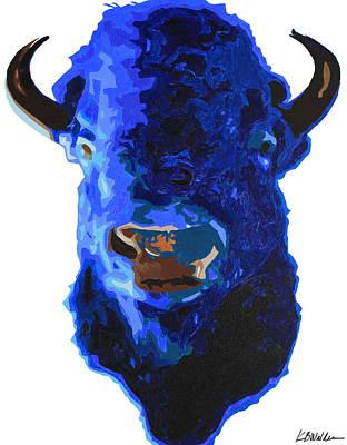 Blue Buffalo Print by Boughton Walden