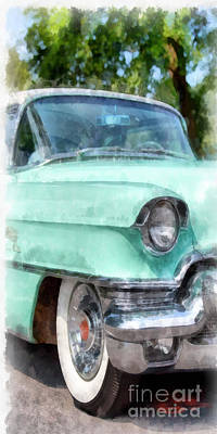 Classic Auto Photograph - Blue Caddy Phone Case by Edward Fielding