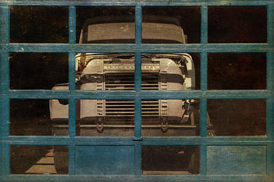 Blue Cage Print by Jeff  Gettis