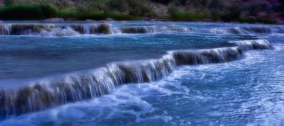 Grand Canyon Digital Art - Blue Cascades by Ellen Heaverlo
