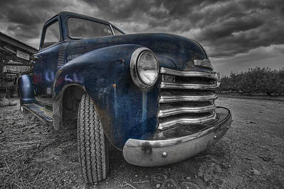 Blue Chevy Print by Mike Horvath