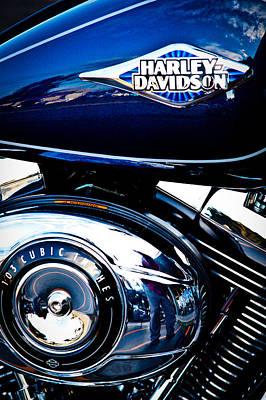 Blue Chopper Print by David Patterson
