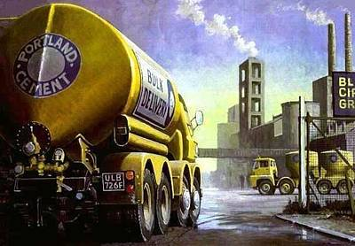 Old Trucks Painting - Blue Circle Foden by Mike  Jeffries