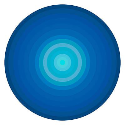 Blue Circles Print by Frank Tschakert
