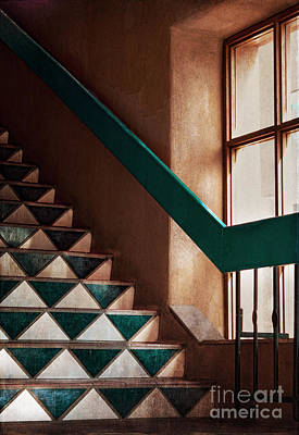 Downtown Stairs Photograph - Blue Corn Cafe Santa Fe by Elena Nosyreva