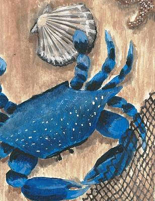 Painting - Blue Crab And Scallop by Stephany Elsworth