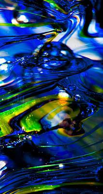 Blue Crystal Print by David Patterson