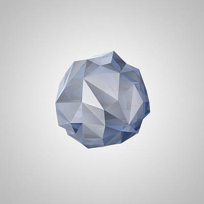 Digital Art - Blue Crystal I by Thomas Richter