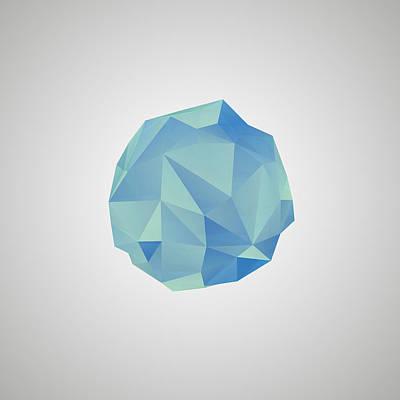 Digital Art - Blue Crystal II by Thomas Richter
