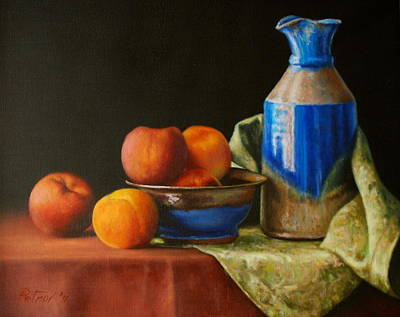 Water Pitcher Painting - Blue by Dan Petrov