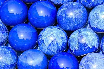 Blue Decorative Gems Print by Toppart Sweden