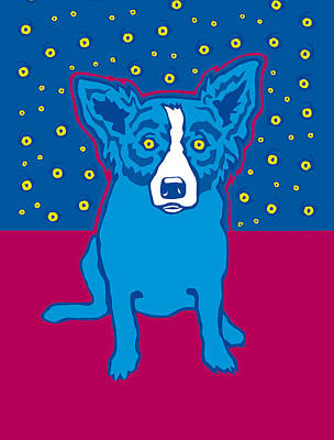 Blue Dog Reproduction Original by Nataniel Ignacio
