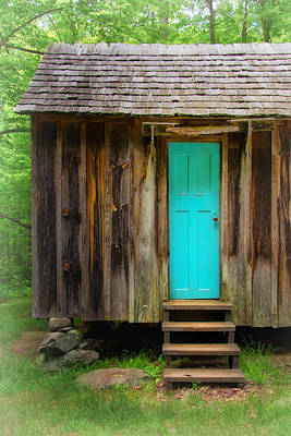Blue Door Print by Carolyn Derstine