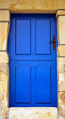 Old House Photograph - Blue Door by Frank Tschakert