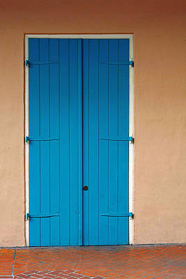 Vieux Photograph - Blue Door In New Orleans by Christine Till