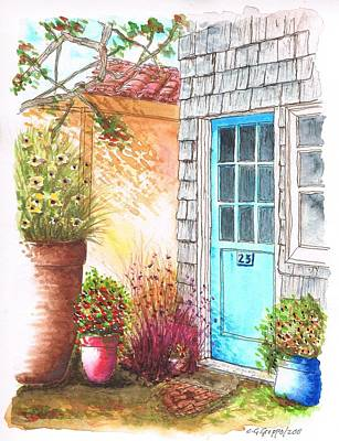 Venice Beach Painting - Blue Door In Venice Beach, California by Carlos G Groppa