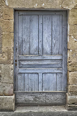 Blue Dordogne Door Print by Georgia Fowler