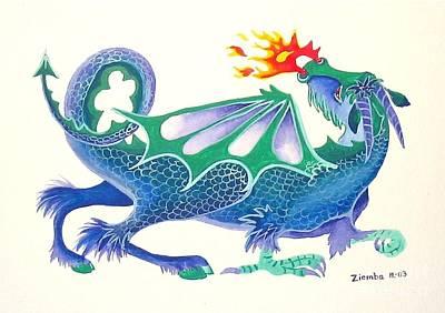 Painting - Blue Dragon by Lori Ziemba