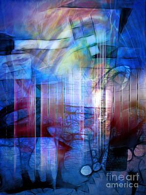 Blue Drama Print by Artwork Studio