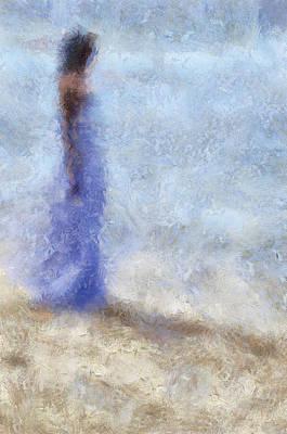 Blue Dream. Impressionism Print by Jenny Rainbow