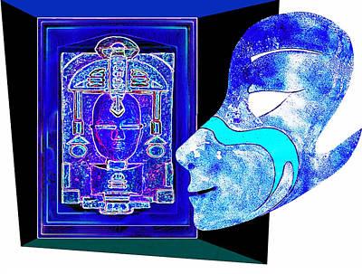Blue Dreams Of Atlantis Print by Hartmut Jager