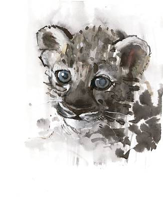 Wild Animals Painting - Blue Eyes by Mark Adlington