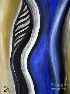 Blue Figure Print by Eva-Maria Becker