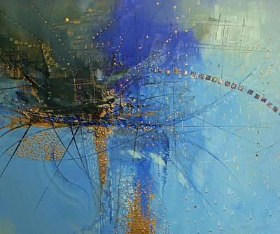 Blue Fish Print by Hermes Delicio