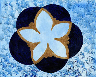 Chakra Painting - Blue Flower by Julia Stubbe