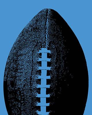 Sports Digital Art - Blue Football Pop Art by Flo Karp