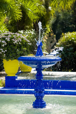 Blue Fountain Print by Mick House
