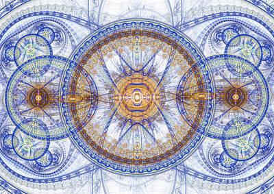 Blue Fractal Inception  Print by Martin Capek