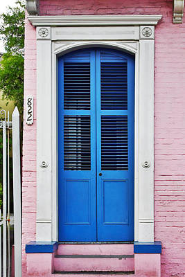 Blue Front Door New Orleans Print by Christine Till