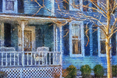 Blue Front Porch Photo Art 01 Print by Thomas Woolworth