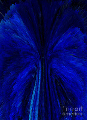 Abstract Digital Art - Blue Fuzz by Patricia Kay