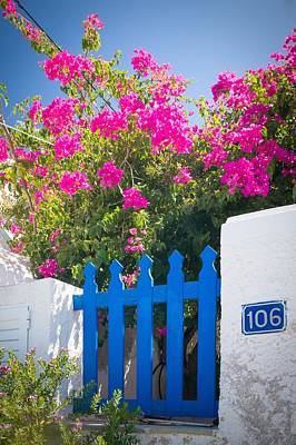 Blue Garden Gate Print by Bjoern Kindler