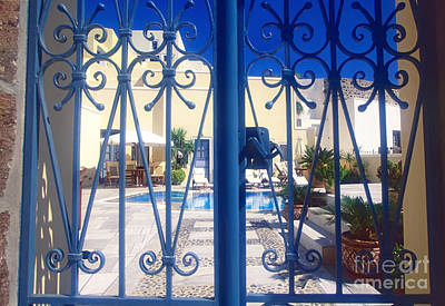Vacances Photograph - Blue Gate by Aiolos Greek Collections