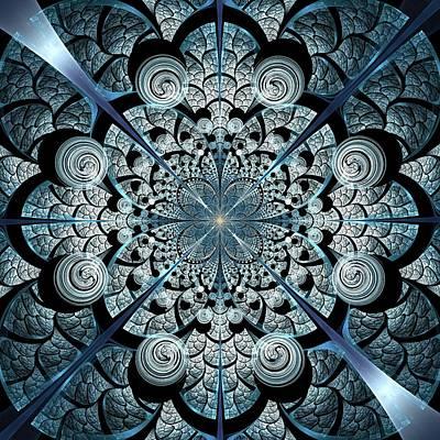 Portal Mixed Media - Blue Gates by Anastasiya Malakhova