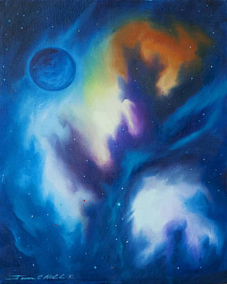 Stellar Painting - Blue Giant by James Christopher Hill