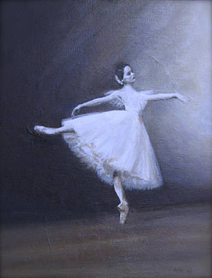 Ballet Painting - Blue Giselle by Anne F Marshall