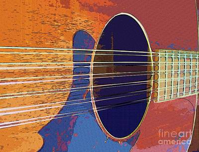 Blue Guitar Print by Barbara Drake