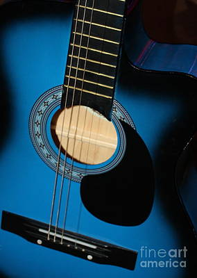 Blue Guitar Print by Carol Groenen