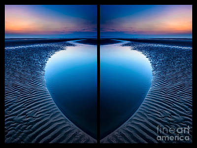 Curves Digital Art - Blue Hour Diptych by Adrian Evans